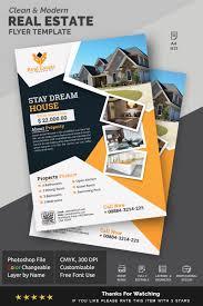 Real Estate Design Modern Clean Real Estate Flyer Design Corporate Identity