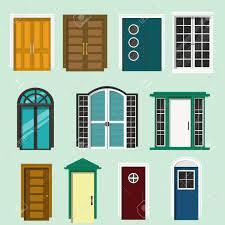 Door Vector Design Various Front Door Design For Houses And Building Set Of Colorful
