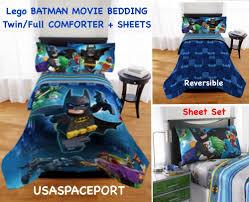 lego batman full double comforter sheets set bed in a bag bat signal decor