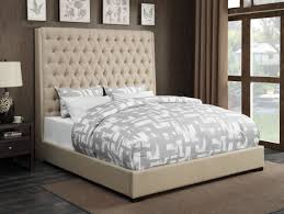 camille cream woven fabric diamond on tufting eastern king size bed w extra tall 72 h headboard