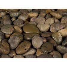 river rocks entry garden. Imperial Beach River Rock Bag-LPEBMIMP5POL40 - The Home Depot Rocks Entry Garden