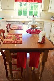 Kitchen Island Or Table Turn Your Kitchen Table Into A Farmhouse Island Exquisitely