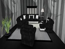 black living room sets. Black Leather Sectional Silver Trim- Complete Living Room Setting - Living. Living_room_set__black_silver_leather_sectional_set_small_l_995 Sets