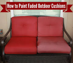 furniture fabric paintHow to Freshen Up Paint Your Outdoor Cushions  Denise Designed
