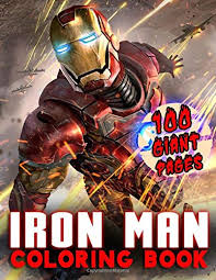Iron man coloring, iron man games. Iron Man Coloring Book Great Coloring Book For Kids And Fans Giant 100 Pages With High Quality Images Mark Wayne 9798648449459 Amazon Com Books
