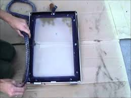 how to replace a wood stove door rope gasket you