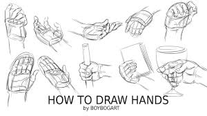 how to draw hands step by step tutorial you