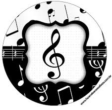 a048f6749b7cfa1e4900ff0d9cf4ac5b toppers e latinhas notas musicais on printable music note cake topper