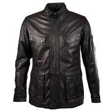 barbour saddler black leather jacket