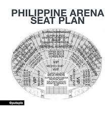 Moa Seating Chart Philippines Arena Seat Plan Chos Philippines