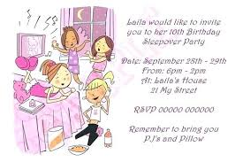 How To Make A Sleepover Invitation Slumber Party Invitations As Well Invitation Wording Ideas Invites