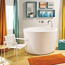 japanese soaking tub with seat. tub · mti yume mtds-134 ast134 52 x 35.5 japanese round stand alone air soaking with seat