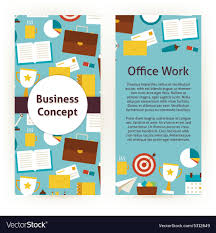 Flat Design Flyer Flyer Template Of Flat Design Business Concept And