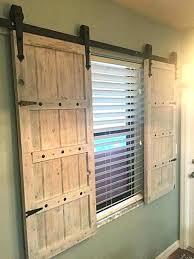 sliding barn doors for windows barn door window treatment sliding barn door shutters barn door window