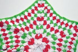 Christmas Tree Skirt Crochet Pattern Extraordinary Crochet Christmas Tree Skirt Granny Stitch Star Free Pattern