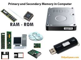 data storage devices computer memory primary and secondary memory in computer vidyagyaan