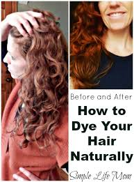 how to dye your hair naturally step by