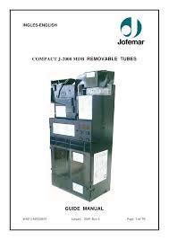 Jofemar Vending Machine Manual Custom J48 Mdb English