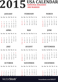 Simple 2015 Calendar Simple Usa Calendar For 2015 American Holidays Are