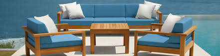 Teak outdoor deep seating furniture