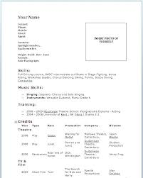 actor resume no experience no experience acting resume acting resume template no experience