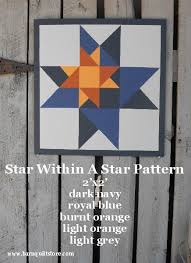 barn+quilt+patterns+star+within+a+star | Painted Wood Barn Quilt ... &