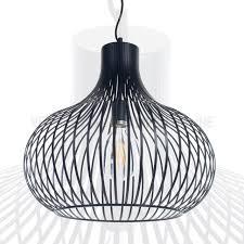 Zwarte Metalen Draadlamp Aglio ø 48 Cm Kopen