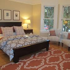 Rug Placement Bedroom Contemporary With Wall Art Cotton Quilts And - Bedroom rug placement