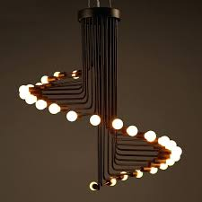 industrial pipe lighting. Industrial Style Lighting Pendant Lamp Black Led Bulb Pipe Light Lamps Canada
