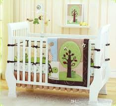 embroidery big turtle tree frog crib bedding set quilt per mattress cover cotton baby kids full