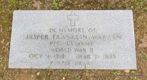 WARREN (VETERAN WWII), JASPER FRANKLIN - Conway County, Arkansas | JASPER  FRANKLIN WARREN (VETERAN WWII) - Arkansas Gravestone