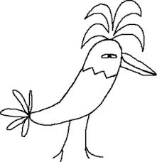 北欧風の鳥の手書き素材セット
