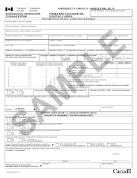 part vi general operating and flight rules transport sample form