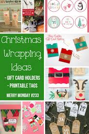 wrapping ideas gift card holders printable tags