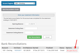 Bank Reconcilation How To Edit A Bank Reconciliation