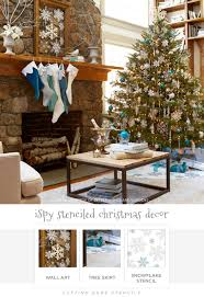 12 days of stenciling i spy stenciled christmas decor stencil