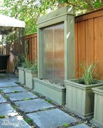 Outdoor Water Wall The Interior Backyard Waterfall X Diy Kit  Ideas Stunning
