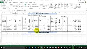 how to make a sheet in excel how to make salary sheet in excel hindi youtube