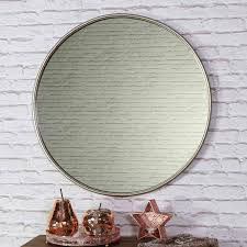 large round vintage gold wall mirror 70cm x 70cm