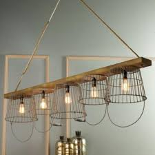 diy wood chandelier rustic wire basket and wood chandelier e1437989588904 photos