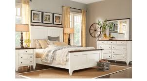Cottage Town White 7 Pc King Panel Bedroom