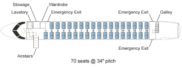 porter airlines arr q400 seat map
