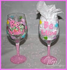 be mine glitter wine glass 12 95
