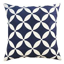navy throw pillows. Exellent Navy Plain Jane Embroidery Decorative Throw Pillow Cover Navy Pillows For  Sofa 18x18 Inches To A