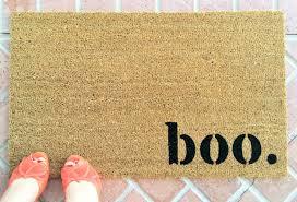 boo. Halloween doormat / Funny Welcome Mat / Custom Hand