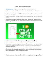 Square's revenue from the apex cryptocurrency rose a whopping 1100% in the third quarter with cash app bitcoin revenue touching $1.63 billion. Cash App Bitcoin Fees By Asif Javed Issuu