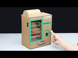 How To Make A Cardboard Vending Machine Mesmerizing How To Build Gumball Vending Machine From Cardboard Simple Socialzon