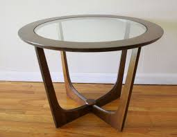 small round end table glass top tables material brown finish unique