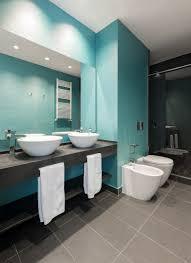 Luxus Badezimmer Im Blau Und Grau Aufsatzwaschbecken