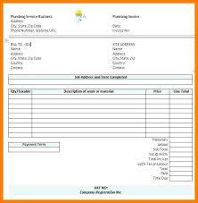 Employee Invoice Template Free Plumbing Receipt Template Employee Invoice Template Labor Receipt